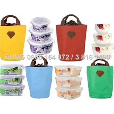 Túi giữ nhiệt sắc màu cao cấp Living Box (Xanh lá-xanh dương -vàng-đỏ)