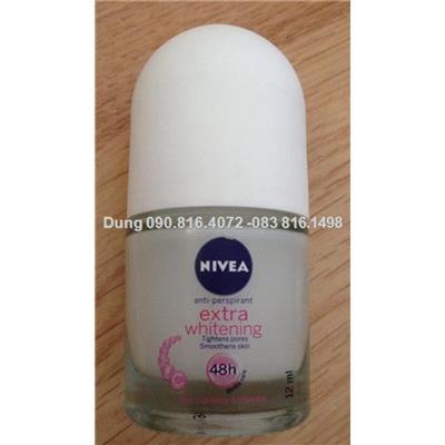 Lăn Khử Mùi làm trắng mịn da &làm mờ vết thâm Nivea 12ml
