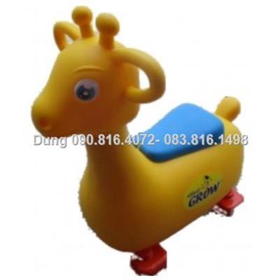 Xe con Hươu co nhạc (music) chòi chân có thùng dựng đồ chơi