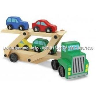 Bộ xe container gỗ lắp ghép & 4 xe oto gỗ mini enfa