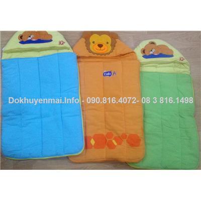 Túi ngủ vải Cara chần bông êm cho bé