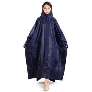 Áo mưa cánh dơi 1 đầu vải dù 2 da màu xanh