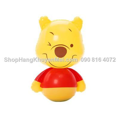 Lật đật bơm hơi gấu Pooh đáng yêu
