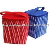 Túi giữ nhiệt cao cấp họa tiết chấm bi