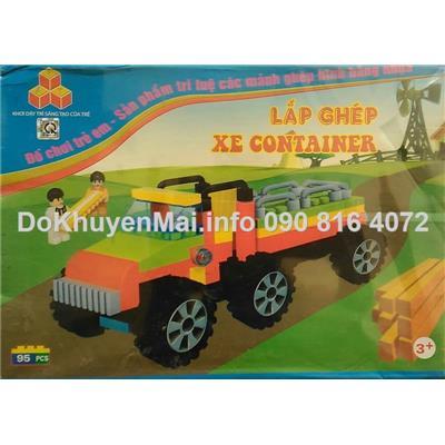 Lego lap ghép xe container cho bé 3+
