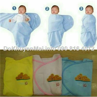 Khăn túi cuốn/quấn giữ ấm giúp bé giấc ngủ ngon