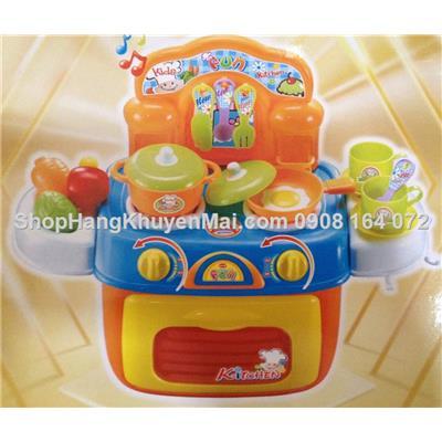 Bộ đồ chơi đầu bếp Tí hon có đèn bếp vui nhộn cho bé vui chơi