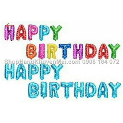 Bộ chữ bong bóng Happy Birthday cho không khí sinh nhật