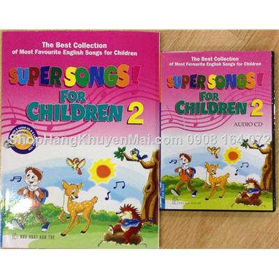 Super songs for children - Set CD & sách màu tuyển tập những bài hát tiếng anh thiếu nhi được yêu thích nhất