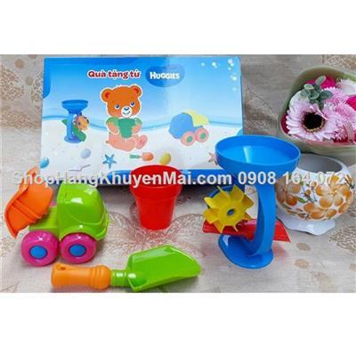 Bộ đồ chơi xúc cát có guồng quay thú vị Huggies  Bo do choi xuc cat co guong quay thu vi Huggies
