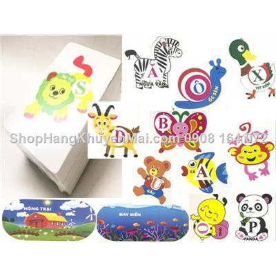 Bộ thẻ mouse ráp chữ và các con vật Nankids  Bo the mouse rap chu va cac con vat Nankids