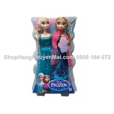 Couple 2 búp bê hoạt hình Frozen Elsa & Anna