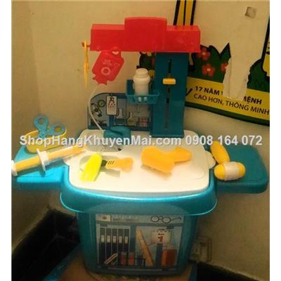 Bộ đồ chơi bàn làm việc bé tập làm bác sĩ