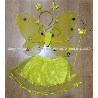 Bộ hóa trang cánh thiên thần kèm chân váy có đèn + cài tóc+ đũa thần