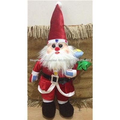Ông già Noel nhồi bông cho bé 60cm
