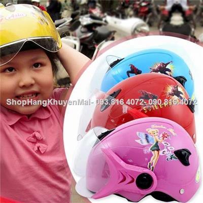 Mũ bảo hiểm có kính chắn an toàn cho bé Nutifood (2-8 tuổi)