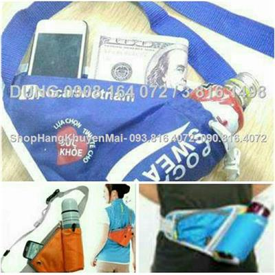 Túi đeo chéo đựng bình nước đa năng tiện ích cho người vận động ngoài trời