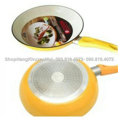 Chảo sứ Ceramic Lock& Lock chống dính đáy( từ 24cm (Vàng)