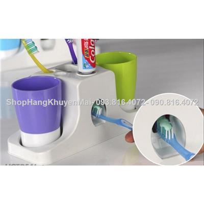 Dụng cụ nhả kem đánh răng kèm 2 cốc