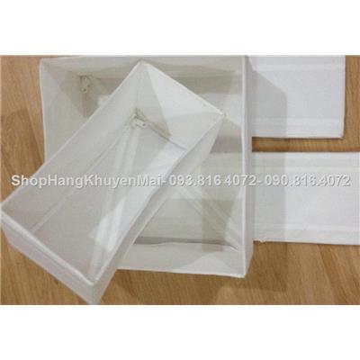 Set 2 hộp đựng đa năng ikea vuông và chữ nhật