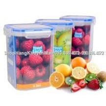 03 hộp nhựa 1500ml Happi Lock đựng thực phẩm  03 hop nhua 1500ml Happi Lock dung thuc pham