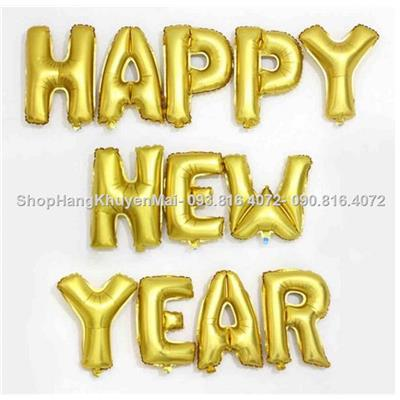 Set bong bóng kiếng Happy New Year