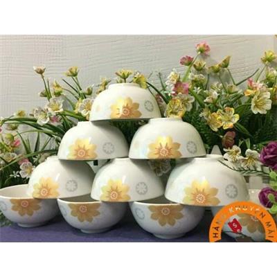 Bộ 10 chén sứ nhũ ánh vàng cao cấp Donghwa