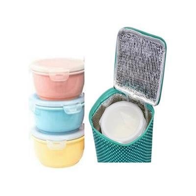 Set 3 thố sứ màu pastel nắp khóa sứ Dong Hwa và túi giu nhiệt  Set 3 tho su mau pastel nap khoa su Dong Hwa va tui giu nhiet