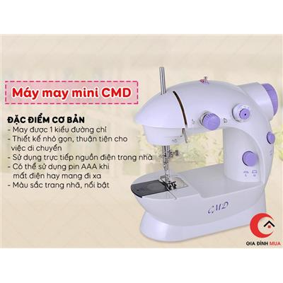 Máy may mini CMD có đèn tiện dụng