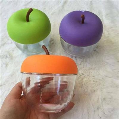 Combo 3 hũ đựng gia vị thủy tinh hình quả táo