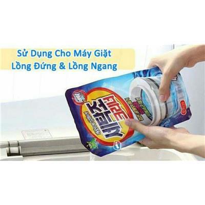 Bột vệ sinh lồng máy giặt Hàn Quốc Sandokkaebi 450gr  Bot ve sinh long may giat Han Quoc Sandokkaebi 450gr