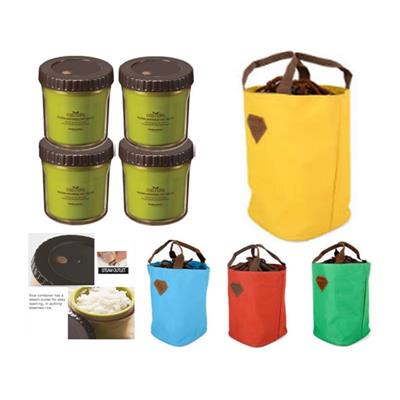 Bộ túi giữ nhiệt và 4 hộp đựng Eco lock&lock 2 lớp cao cấp