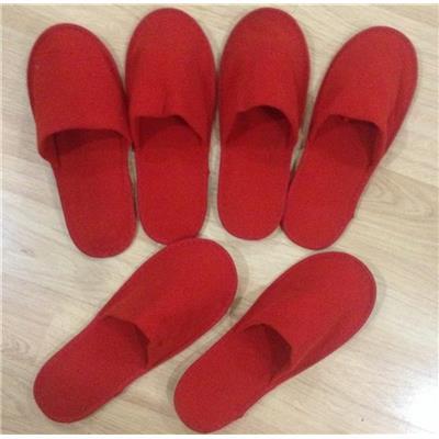#red -Dép kín mũi đi trong nhà vải nỉ nhung