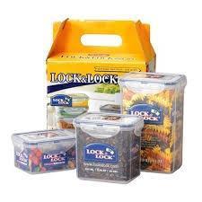 Bộ 3 hộp nhựa đựng thực phẩm Lock&lock