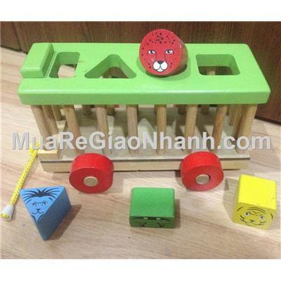 Xe cũi gỗ thả hình khối