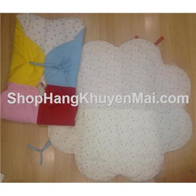 Thảm túi ngủ chần đa năng hoa mai