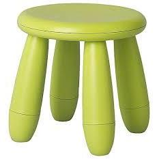 Ghế nhựa MAMMUT IKEA màu xanh
