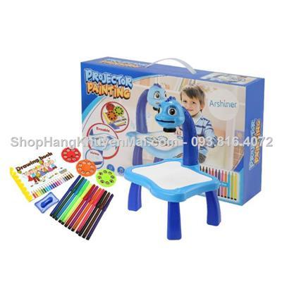 Bộ đồ chơi bàn 4 chân đứng vẽ hình Projector Painting