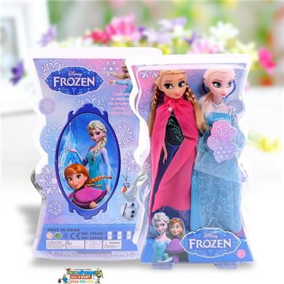 Set 2 búp bê hoạt hình Frozen Elsa & Anna