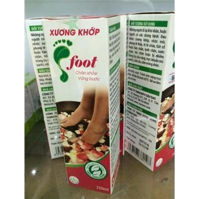 Nước ngâm chân 100% thảo dược Foot giúp chân khỏe, giảm đau, tăng tuần hoàn.