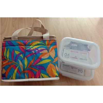 Set lunch bag 2 hộp thủy tinh chữ nhật Lock&Lock 630ml
