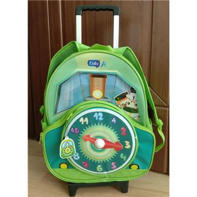 Balô cần kéo đôi cho bé đi học hình đồng hồ của Enfa