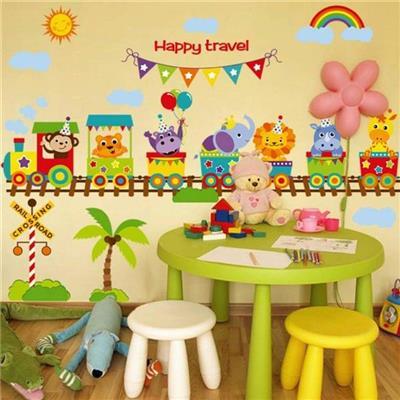 Decal đoàn tàu Happy travel đáng yêu
