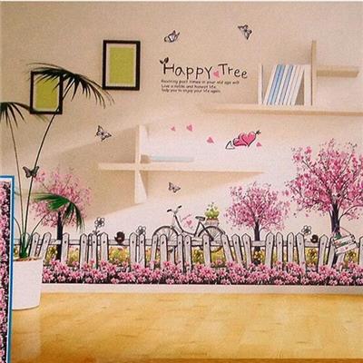 Decal trang trí chân tường Happy Tree