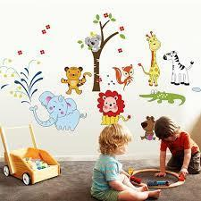 Decal dán tường vườn thú vui nhộn