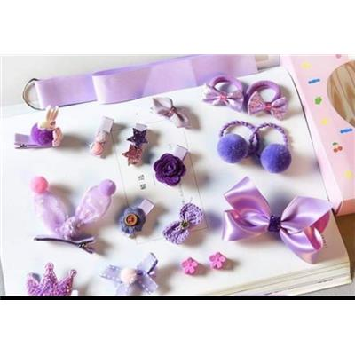 #1. -Bộ sưu tập 18 dây treo + kẹp tóc + cột tóc cho các nàng công chúa