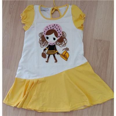 Váy cotton búp bê len đắp chân váy xoè các size cho bé từ 3 đến 8 tuổi