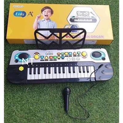 Đồ chơi đàn Organ Enfa cho bé dùng pin có micro + ghi âm