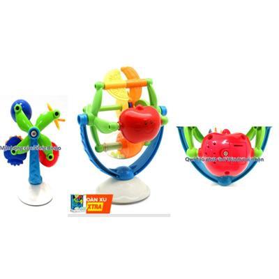Đồ chơi vòng xoay bingo treo xúc xắc phát âm thanh vui nhộn cho bé