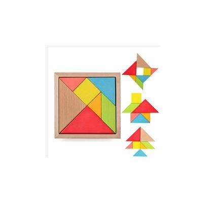 Bộ ghép hình gỗ tangram - hình tam giác, giúp bé thỏa sức sáng tạo cùng các hình khối